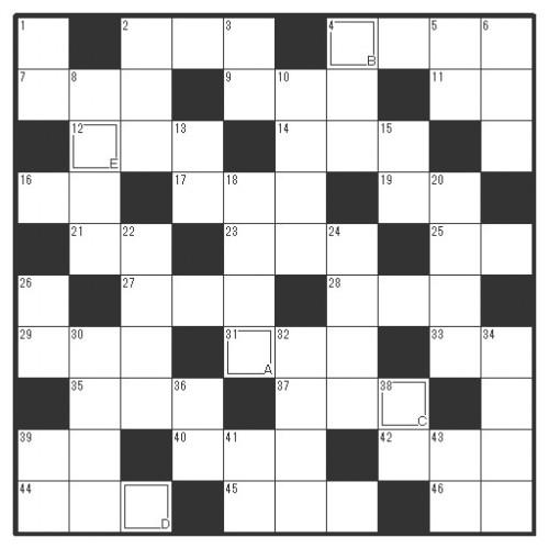 クロスワードパズル10*10-20161028