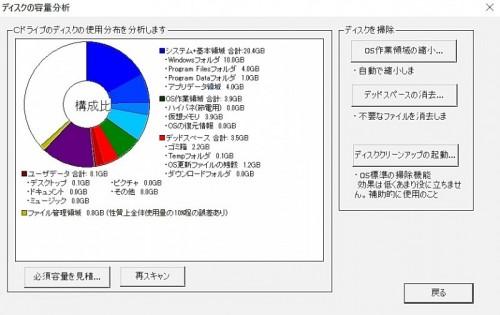 【難しいと思ってたけど意外とすんなりできた【DIY】ノートパソコンのHDDからSSDへ交換】ディスクの容量分析