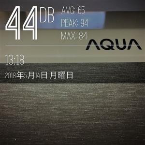 AQUA AQR-13G 騒音測定