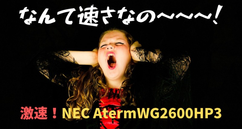 激速!無線LANルーター NEC AtermWG2600HP3